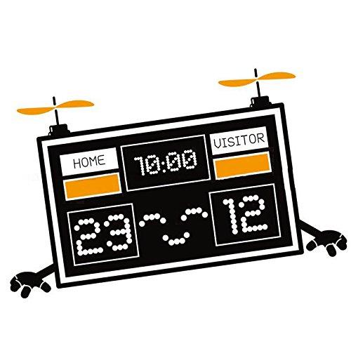 Cartoon Wall Decals Scoreboard Robot Sport Style Home Murals Decor 15