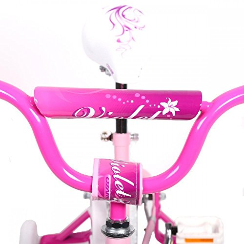 16'' Steel Frame Children BMX Girls Kids Bike Bicycle With Training Wheels by FDW (Image #1)