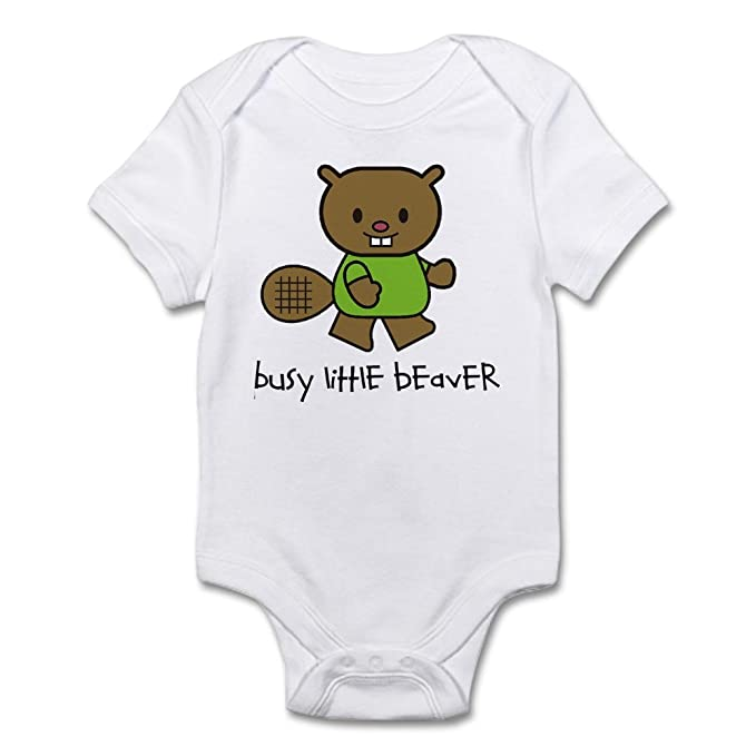 Amazon.com: CafePress – Busy Little Beaver – lindo bebé body ...