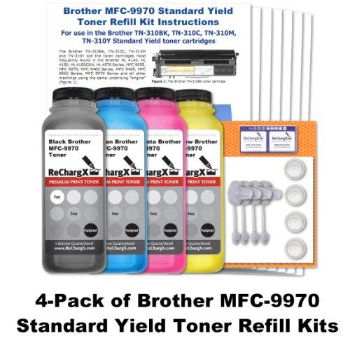 Standard Yield Refill - Brother MFC-9970 Standard Yield Toner Refill Kit (4 Pack - Black, Cyan, Magenta, Yellow)