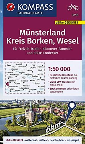 KOMPASS Fahrradkarte Münsterland, Kreis Borken, Wesel 1