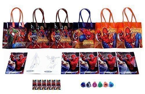 Marvel Spider-Man Party Favor Set - 6 Packs (42 Pcs)