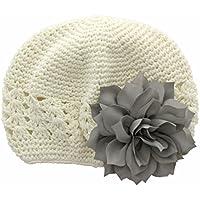 My Lello Little Girl's Crochet Beanie Hat with Flower
