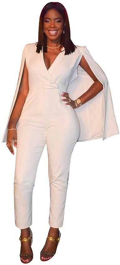 Mujeres Elegantes Mono Blanco Chal Kimono Tops Pantalones Largos ...