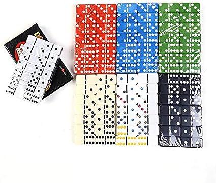 Dominó Juego De Dominó De Puntos De 28 Pzs. En Color Caja Simple Y Divertida Juguete De Domino De Plástico Tarjeta De Juego Casual para El Hogar Familia Viajar para Jugar: Amazon.es: