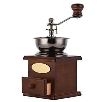 SUNLMG Máquina De Polvo Portátil Amoladora Manual American Antique Vintage Industrial De Madera Maciza Tubería De