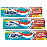 Aquafresh Cavity Protection Fluoride Toothpaste, Cool Mint, 5.6 OZ (3 Count)