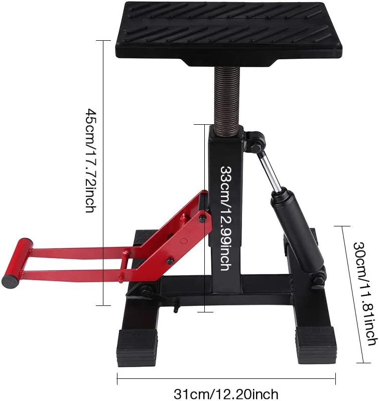 Motorcycle Bike Lift Adjustable Lift Jack Lift Stand Repairing Table for Adventure Touring Motorcycle Street Bike
