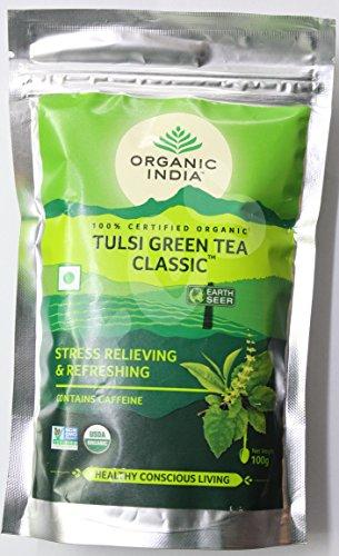 (Organic India 100% Certified Organic Tulsi Green Tea Classic)