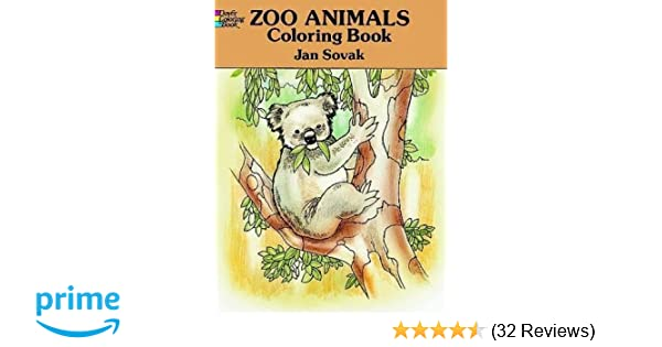 Zoo Animals Coloring Book Jan Sovak 9780486277356 Amazon Books