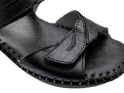 Art sandale M2580 mujer metal, extragrande de velcro de silicona
