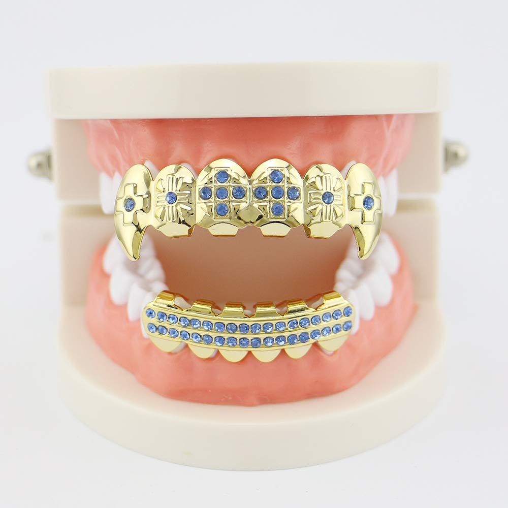 Amazon.com: Juego de parrillas de dientes chapadas en oro ...
