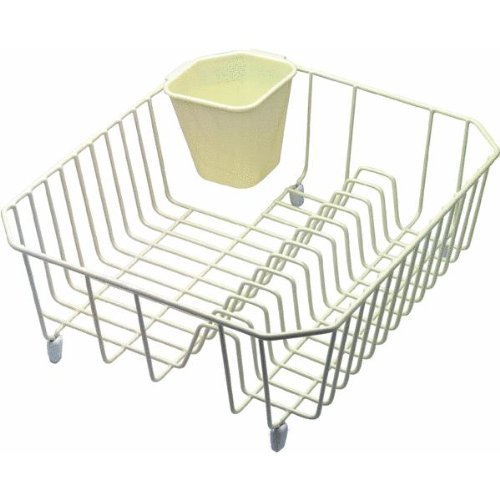 Twin Sink Dish Drainer - Rubbermaid 6008ARBISQU Bisque Twin Sink Dish Drainer