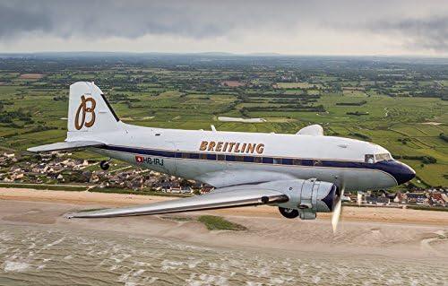 Breitling DC-3 Dakota Aircraft Plastic Kit 1:72 Model 1393 ITALERI