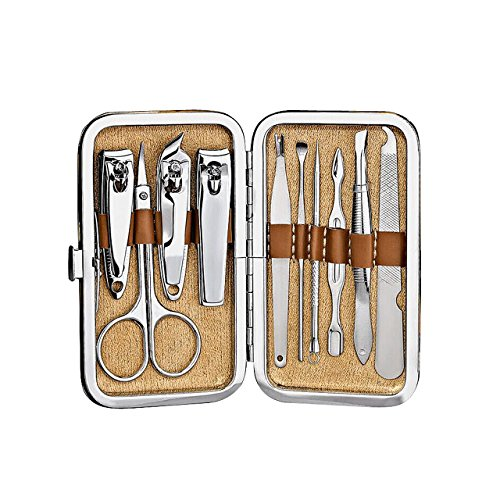 Stainless 10-in-1 Manicure Set with Case Set of 3 - 3