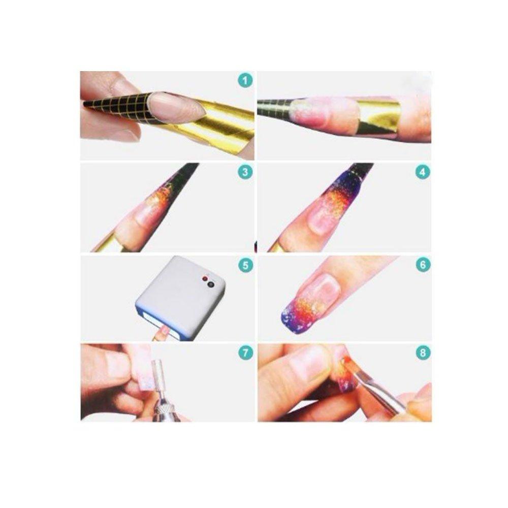 Amazon.com : Leegoal Nail Art Tips Forms Acrylic UV Gel Tips ...