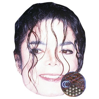 Michael Jackson Celebrity Mask, Card Face and Fancy Dress Mask -