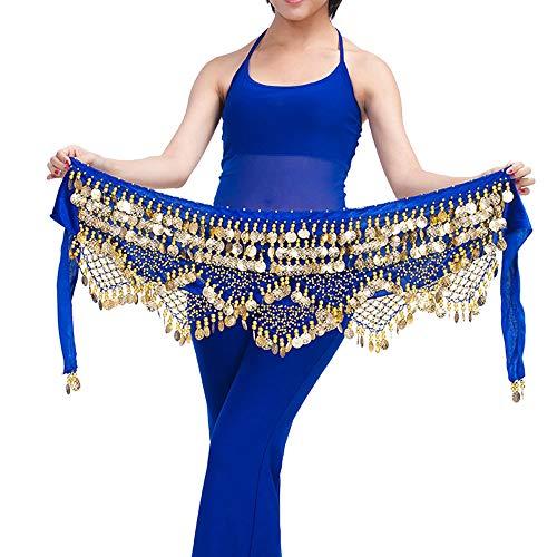 - Belly Dance Belt Wrap Hip Scarf Skirt Waistband Coins Sequins Hip Scarf