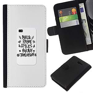 EJOY---La carpeta del tirón la caja de cuero de alta calidad de la PU Caso protector / Sony Xperia M2 / --texto cuaderno escolar cartel de la escritura