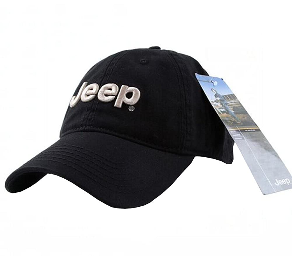 Jeep Unisex Adjustable Horizon Classic Cap (Black f47734b183f5