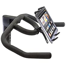 """ChargerCity Strap-Lock Tablet Mount for Bicycle, Treadmill, Exercise Bike, Boat Helm, Pole Handlebar with Universal Spring-Loaded Tablet Holder for Apple iPad Mini / Ipad Air / Ipad 2 3 4 5 (All Generation), Samsung Galaxy Tab Note Microsoft Surface Pro LG G Pad Asus Dell Venue Lenovo Yoga Google Nexus 7"""" 8"""" 9"""" 10"""" 12"""" Screen size Android Tablet (use with or without case protector)"""