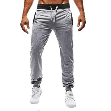 Hombre Deporte Pantalones Largos Chándal Bermuda Pantalón Fitness Jogging  Elástico Elástico Culturismo Casual Running Pantalones ( 34a29f87728a