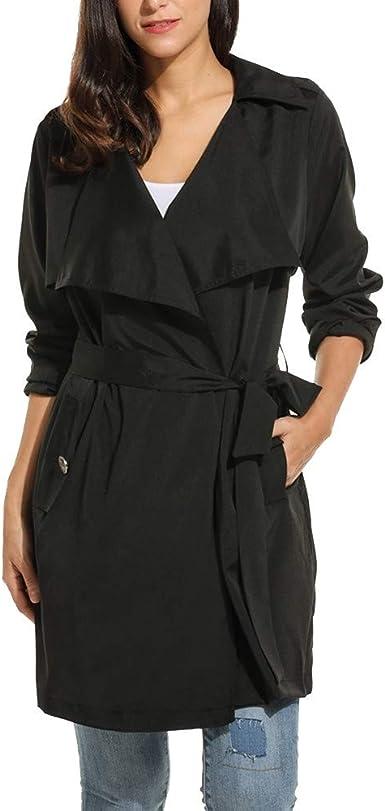 Plus Size Winter Coats for Women Women Long Sleeve Solid Casual Wrap Belted Lightweight Windproof Coat
