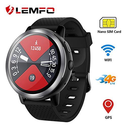 LEMFO LEM8 4G Android 7.1.1 Reloj Inteligente GPS 2MP cámara 1.39 ...