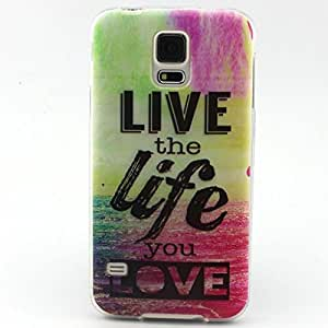 Galaxy S5 Mini case, JAHOLAN Live the Life You Love Clear Bumper TPU Soft Case Rubber Silicone Skin Cover for Samsung Galaxy S5 Mini (Not for S5 i9600)
