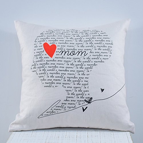 Kingmell Throw Pillow Cover Mother's Day Gift Pillowcase Decorative 18x18 Cushion Linen Soft - Mothers Day Pillow