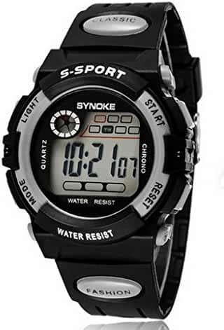 50m Water-proof Digital Kids Boys Sport Watches For 7-15 Years Old Boys Girls