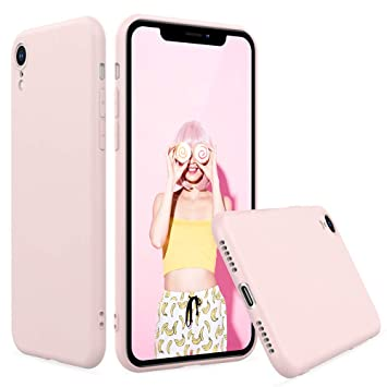 Peakally Funda iPhone XR, Carcasa TPU Suave Funda para iPhone XR Carcasa Flexible Ligero Fundas [Resistente a arañazos] [Ultrafina Delgado]-Rosa