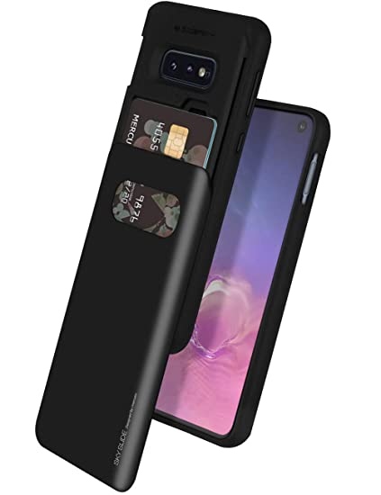 4fe8ab063244 Goospery Galaxy S10e Case [Sliding Card Holder] Protective Dual Layer  Bumper [TPU+PC] Cover with Card Slot Wallet for Samsung Galaxy S10e (Black)  ...