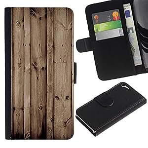 JackGot ( Madera Retro ) Apple iPhone 5 / iPhone 5S la tarjeta de Crédito Slots PU Funda de cuero Monedero caso cubierta de piel