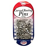 Sullivans Curved Basting Pins Size 1, 110 pieces