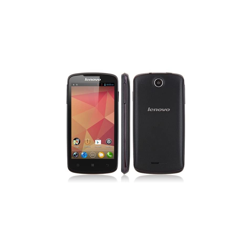 AXCELLE 4.5 Inch lenovo A630 Phone MTK6577 Dual Core, Android 4.0 512MB RAM 4GB ROM Dual SIM Card Support Multiple language(Black)