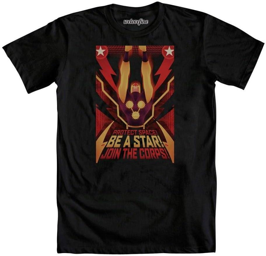 Marvel Comics Nova Corps Be A Star Mens Black T-Shirt