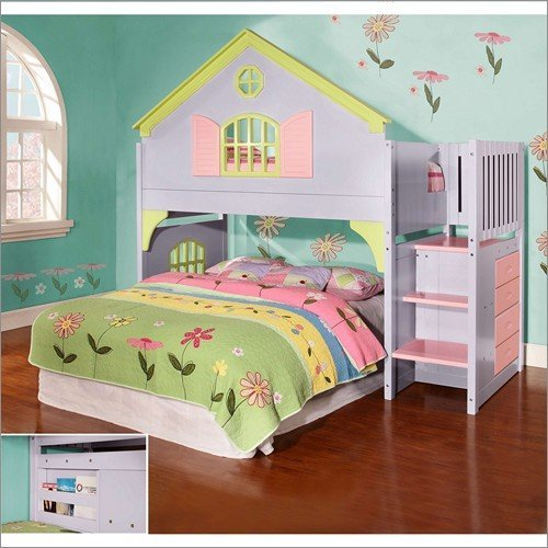 (DOLL HOUSE STAIRWAY BUNK - MULTI)