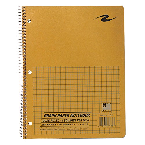 "Roaring Spring Graph Notebook, 11"" x 8.5"", 50 Sheets"