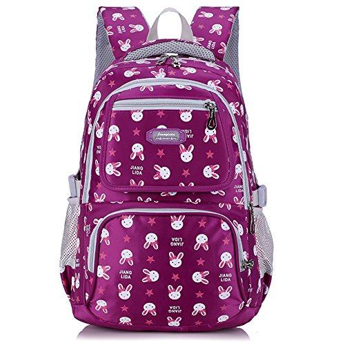 57732c1b1f Uniuooi Primary School Backpack Book Bag for Girls 8-12 Years Old  Waterproof Nylon Schoolbag Travel Rucksack 14 inch Laptop Bag