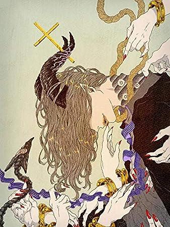 Artesanías 5D pintura de diamante cuadrado completo mosaico de diamantes caballo de diamantes de imitación imagen de demonio bordado de diamantes punto de cruz regalo AX336