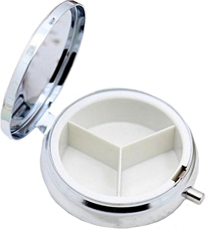 porta vitamine medicinali con 3 scomparti custodia portatile per pillole da viaggio Carino panda portapillole organizzatore