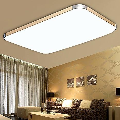 Baredury Lámpara De Techo Led Rectangular Luminoso Salón ...