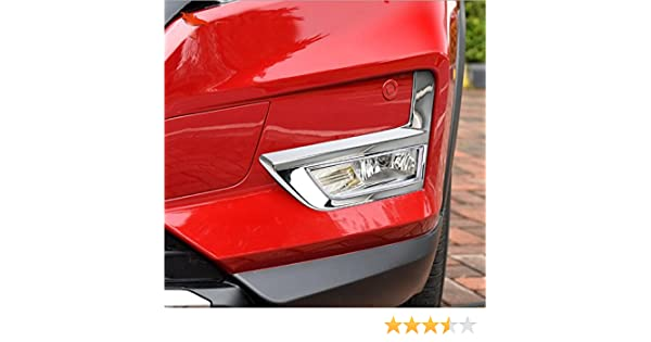Weigesi ABS Chrome Front Fog Light Lamp Cover Trim Decoration for Nissan Rogue 2016-2019 2pcs