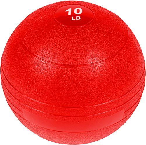 Trademark Innovations Exercise Slam Medicine Ball by (Red, Red, 10 Lbs