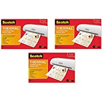 Scotch Thermal Laminating Pouches, 11.45 x 17.48-Inches, 25-Pouches (TP3856-25) 3-Pack