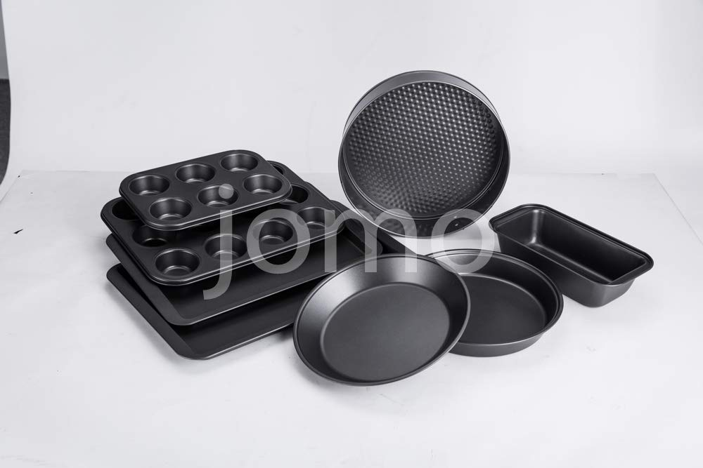 NARCE 8-Piece Nonstick Bakeware Set | Chef Favorites:Nonstick Baking Sheets,Loaf,Muffin,Pizza Pan,Pie Pan,Springform| by NARCE (Image #1)