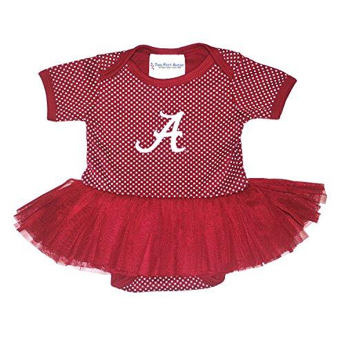 NCAA Alabama Crimson Tide Children Girls Pin Dot Tutu Creeper,6 (Alabama Crimson Tide Pins)
