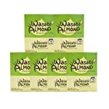 Prince Katsu Honey Butter Nuts, sweet and savory nuts, 12 x 35g pouch box, made in Korea (Wasabi Butter Almond, 1 case)