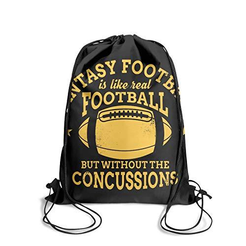 Happy-life Handbags Fantasy Football - No Concussionscinch Waterproof Unisex Drawstring Bags